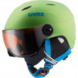 junioská lyžařská helma Uvex Visor pro Junior zelená
