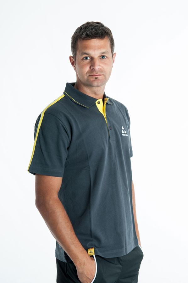 Fischer Triko Melvin - šedá/žlutá