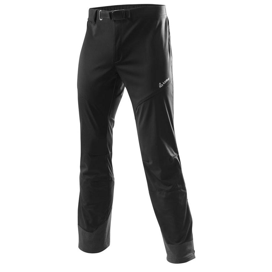 Löffler Kalhoty SoftShell WindStopper Skitouring - černá
