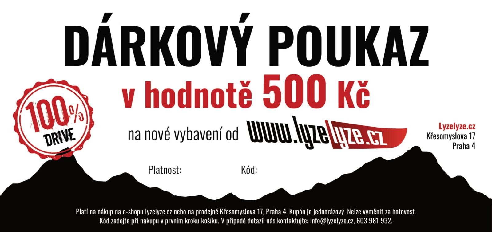LyzeLyze.cz Dárkový poukaz 500 Kč
