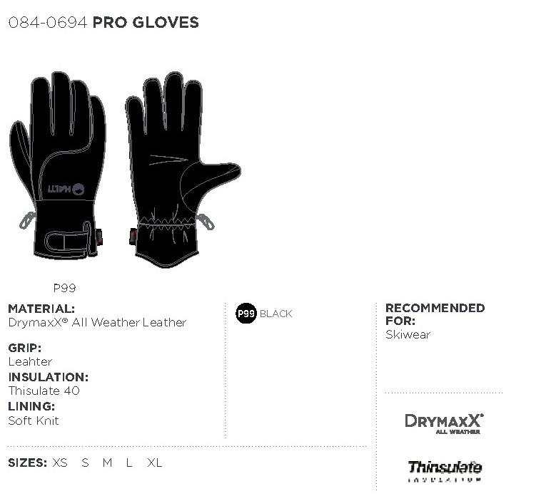 Halti rukavice Pro - černá