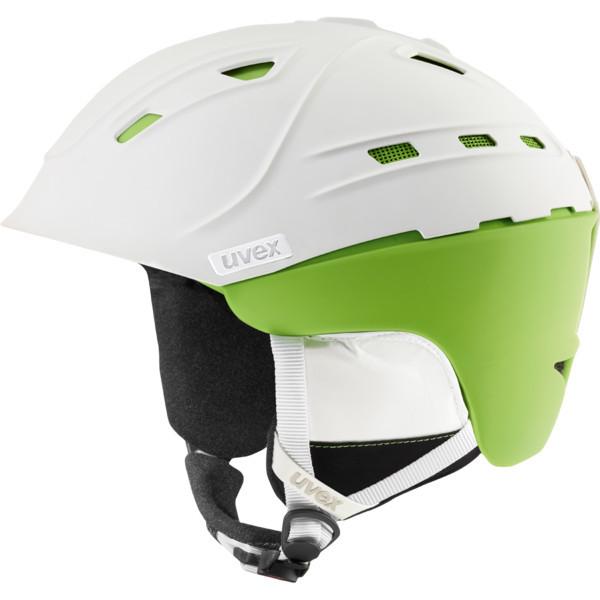 lyžařská helma Uvex P2us - bílá