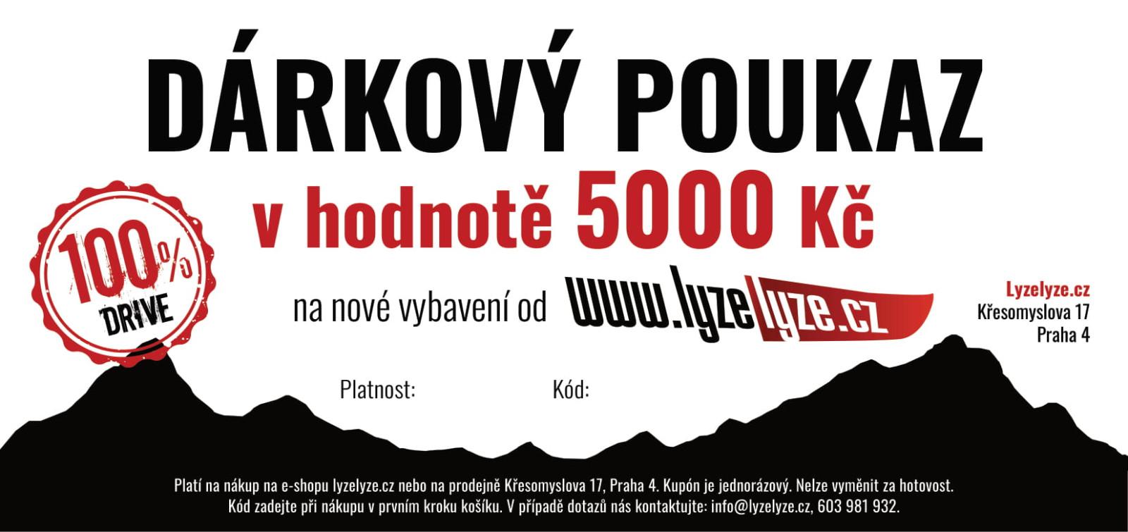LyzeLyze.cz Dárkový poukaz 5000 Kč