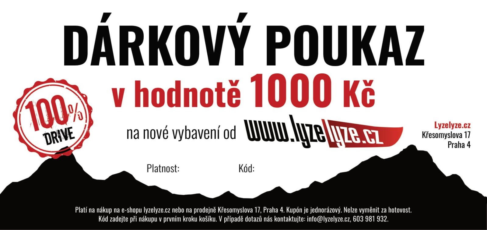 LyzeLyze.cz Dárkový poukaz 1000 Kč