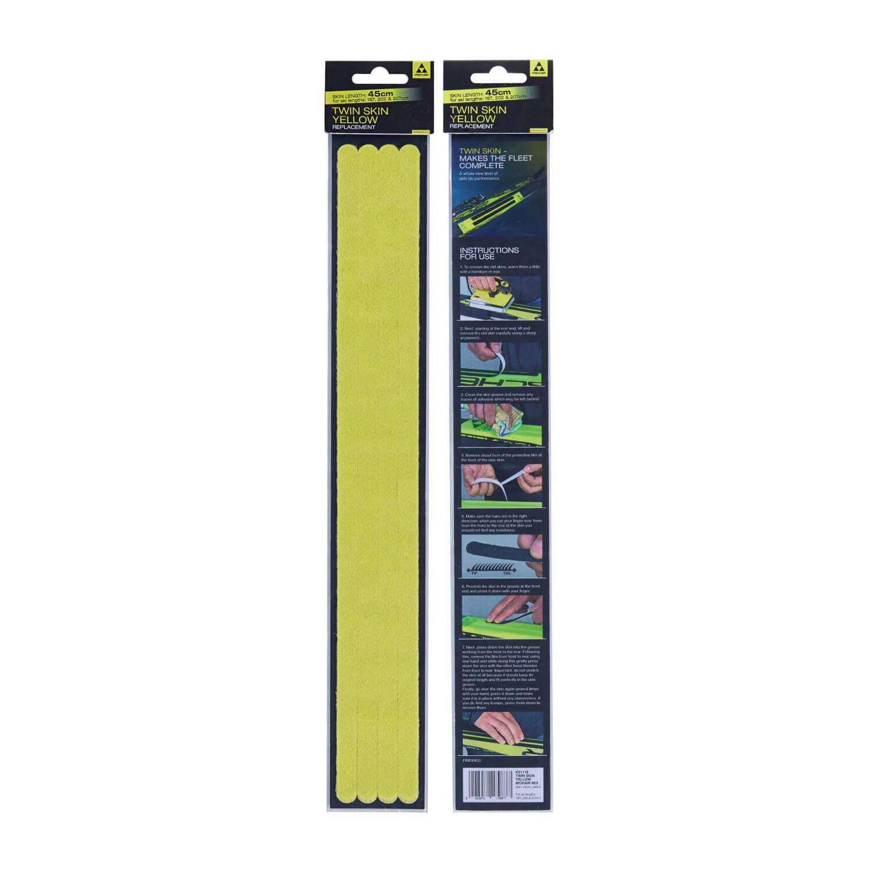 Náhradní set mohérových pásů Fischer Twin Skin Mohair Yellow Wide