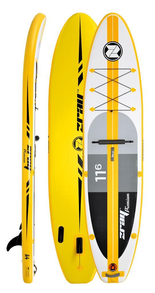 """Zray Touring A4 11'6""""- 32"""" - bílá/žlutá"""