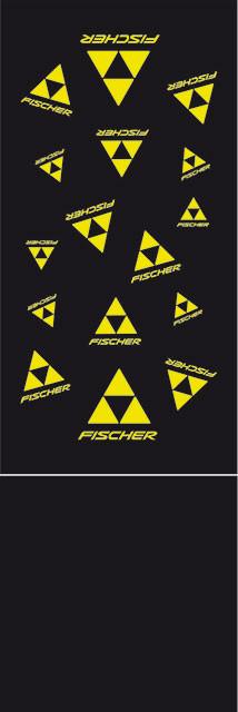 Fischer Šátek CLASSIC LOGO FLEECE - černá