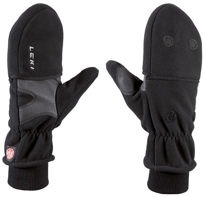 Leki WS Fleece mitten double,lady - černé