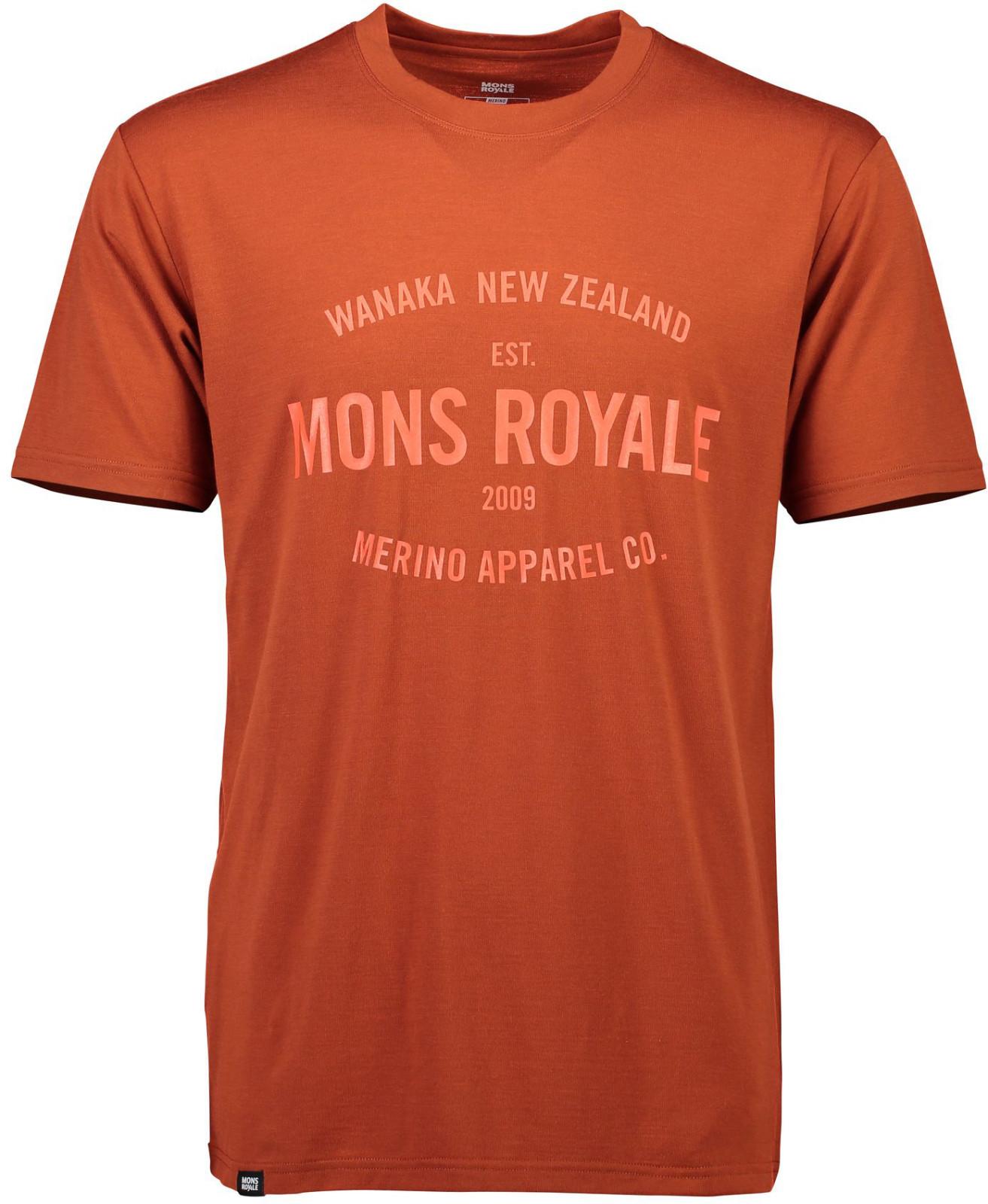 Mons Royale merino triko ICON T-SHIRT clay