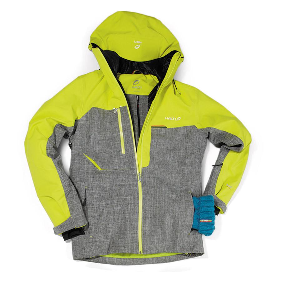 Halti Pánská lyžařská bunda BAKU - žlutá