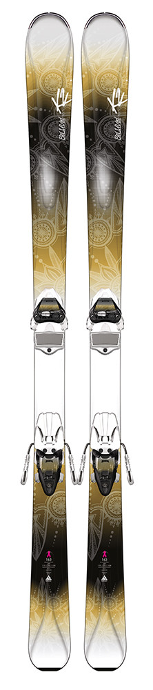 K2 BeLuved 78 Ti + QuikClik ER3 10 - testovací lyže