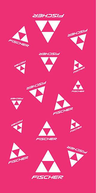 Fischer šátek CLASSIC LOGO - růžová/bílá