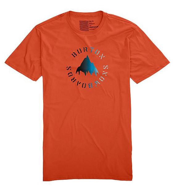 Burton Stencil Mountain Fade - oranžová