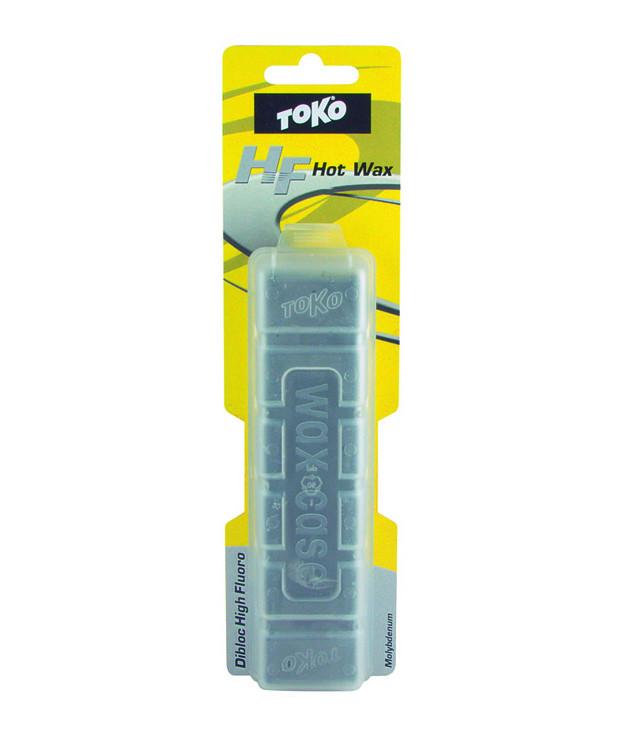sjezdový vosk TOKO Dibloc HF šedý Molybdenum detail