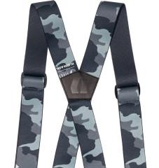 Stage Suspenders - černá/šedá/modrá