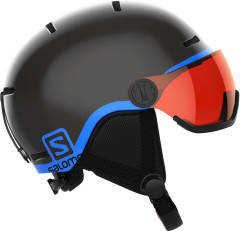 juniorsrká lyžařská helma Salomon Grom Visor