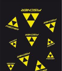 Fischer Šátek LOGO černá/žlutá
