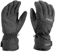 Lyžařské komfortní rukavice Leki Alpe GTX - černásmembránou Gore-Tex.
