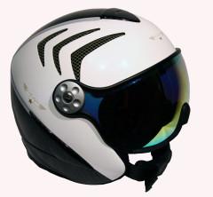 H2 R wht/carbon/grn + štít VTM007