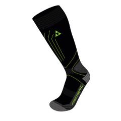 Sportovní lyžařské ponožky Fischer Alpine Comfort Extra Warm - černá/limetka