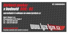 dárkový poukaz www.lyzelyze.cz 500 Kč detail