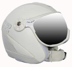 H2 wht/silv. striped + štít VTS001