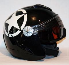 H2 Pearl black/white star + štít