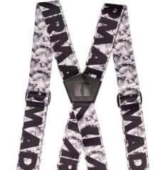 Stage Suspenders - bílá/černá