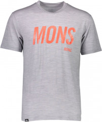merino triko Icon T-Shirt Slant - šedá