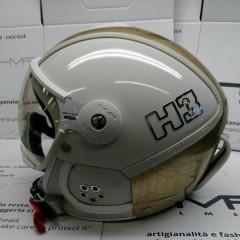 H3 white/gold mesh+ štít VTS1