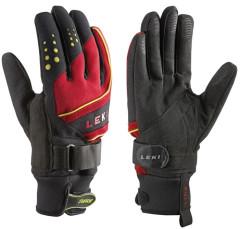Běžecké rukavice Leki Thermoshield red - červená