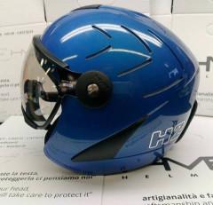 H2 R electric blue+ štít VTS1