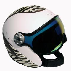 H2 zebra/white/lthr. + štít VTM007