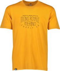 merino triko Icon T-Shirt - žlutá