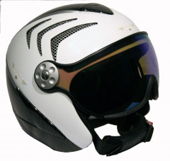 H2 R wht/carbon/silver+ štít VTM008