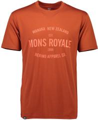 merino triko Icon T-Shirt - červená