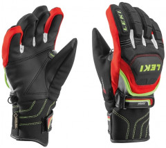 Lyžařské rukavice Leki Worldcup Race Coach Flex S GTX Junior červené