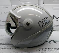 H2 white/silver striped+ štít VTS1