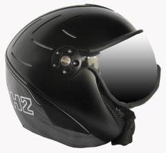 H2 R blk/silv. striped + štít VTS001