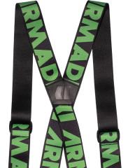 Stage Suspenders - černá/zelená