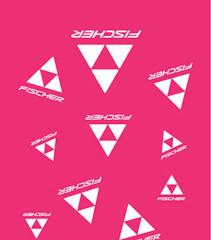 šátek CLASSIC LOGO - růžová/bílá