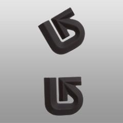 grip burton aluminum logo mats