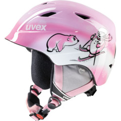 juniorská lyžařská helma Uvex Airwing 2 růžová