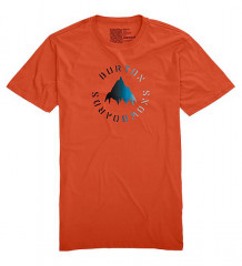 pánské triko burton Stencil Mountain Fade