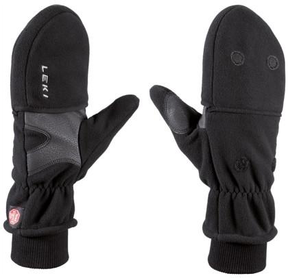 Leki WS Fleece mitten double,lady - černé