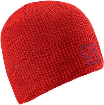 Salomon Logo Beanie - červená
