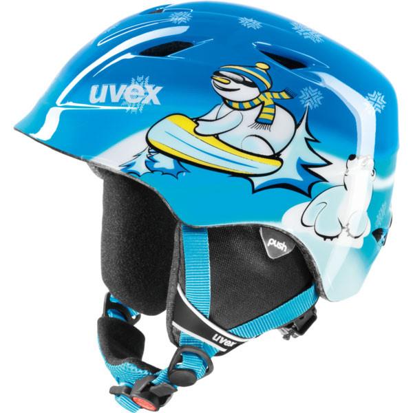 juniorská lyžařská helma Uvex Airwing 2 modrá