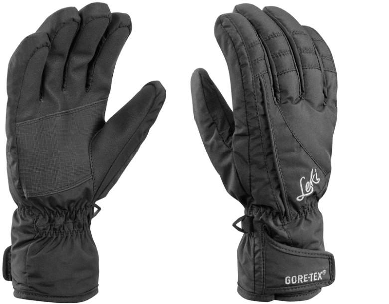 Dámské lyžařské komfortní rukavice Leki Alpe GTX Lady – černé.