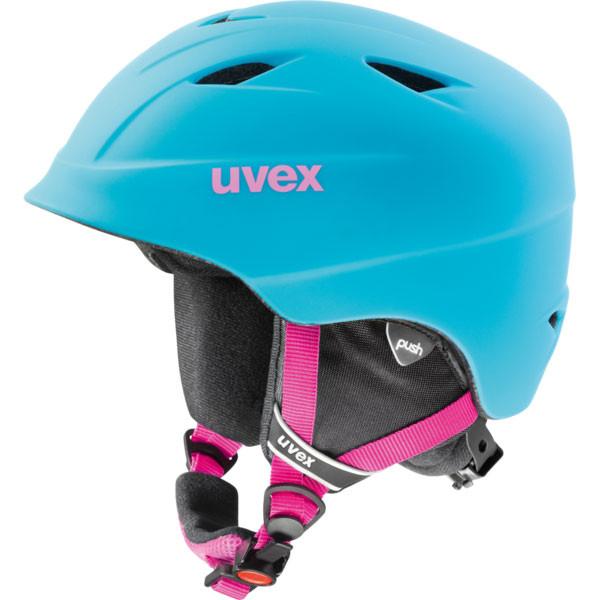 juniorská lyžařská helma Uvex Airwing 2 Pro modrá