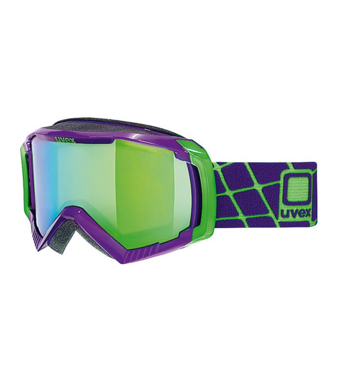 lyžařské brýle UVEX G.GL 100 fialová green mirror